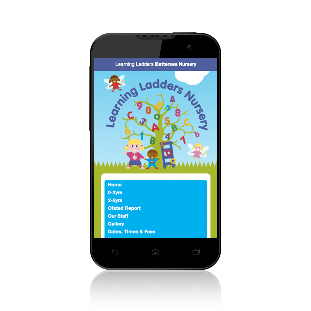 Mobile Web Design Battersea Learning Ladders Nursery