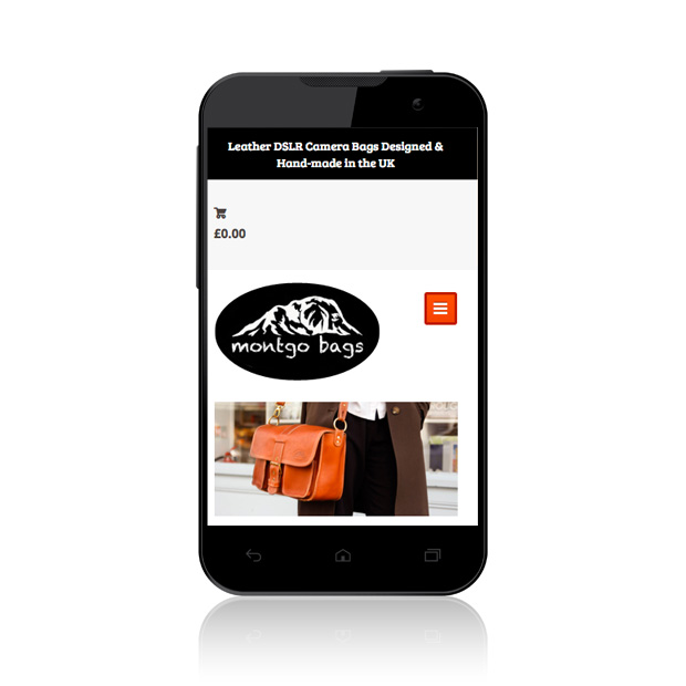 Mobile Web Design Wandsworth Montgo Bags