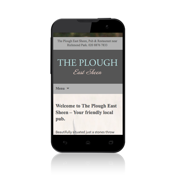 Mobile Web Design Wandsworth The Plough