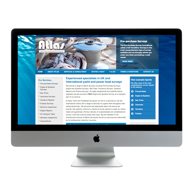 Web Design Wandsworth Atlas Yacht And Power Boat Surveyors