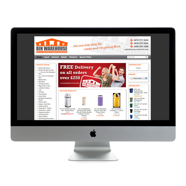 Web Design Wandsworth Binwarehouse