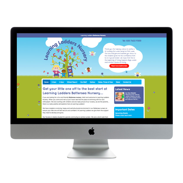 Web Design Wandsworth Learning Ladders Nursery