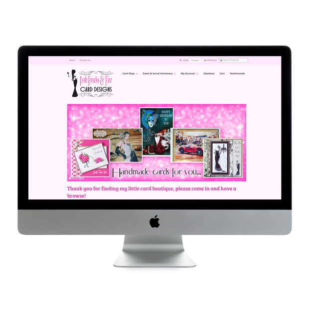 E-commerce Web Design Wandsworth Posh Frocks And Fizz Cards