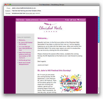 Web Design Earlsfield Cherished Nails
