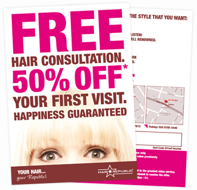 Flyer Leaflet Design Wandsworth Hair Republic