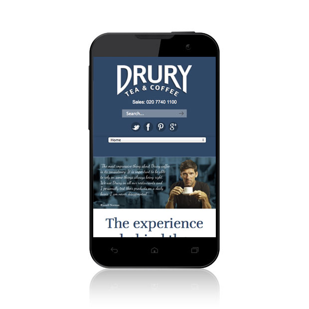 Mobile Web Design Wandsworth Drury Coffee